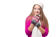Beautiful woman wearing winter clothes Stock Image