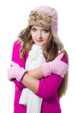 Beautiful woman wearing winter clothes Stock Photo