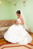 Beautiful woman in a wedding dress. Stock Photo