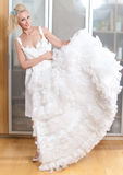 Beautiful woman with a wedding dress Stock Image