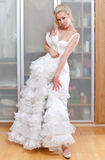 The beautiful woman with a wedding dress Royalty Free Stock Photo