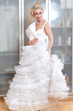 The beautiful woman with a wedding dress Royalty Free Stock Photos