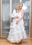 The beautiful woman with a wedding dress Stock Photo
