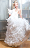 The beautiful woman with a wedding dress Stock Image
