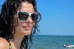 Beautiful woman with wet hair Stock Photo