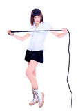 Beautiful Woman with a whip Stock Photos
