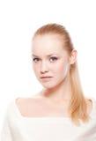 Beautiful woman on white Stock Image