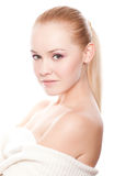 Beautiful woman on white Royalty Free Stock Photo