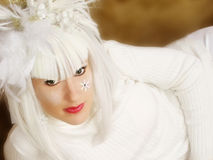 Beautiful Woman in White Royalty Free Stock Photo