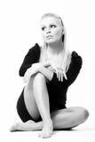 Beautiful woman on white background Stock Image