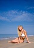 Beautiful woman in white bikini Royalty Free Stock Photo