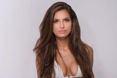 Beautiful woman in white bikini. Stock Photos