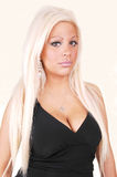 Beautiful woman with white, blond hair. Royalty Free Stock Photos