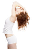 Beautiful woman in white clothing Royalty Free Stock Photo