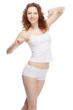 Beautiful woman in white clothing Royalty Free Stock Photos