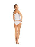 Beautiful woman in white cotton underwear Royalty Free Stock Photography