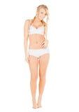 Beautiful woman in white cotton underwear Royalty Free Stock Photos