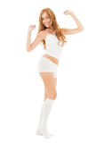 Beautiful woman in white cotton underwear Royalty Free Stock Photo