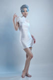 Beautiful woman in white dress Royalty Free Stock Photo