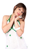 Beautiful woman in white dress Royalty Free Stock Photo