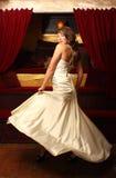 Beautiful woman in white dress Stock Image