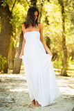 Beautiful woman in white dress Stock Photography