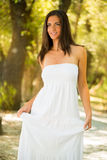 Beautiful woman in white dress Royalty Free Stock Photos