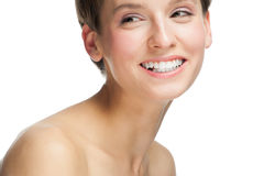 Beautiful woman with white teeth Stock Photo