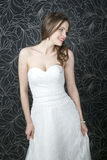 Beautiful woman in white wedding dress Stock Photo