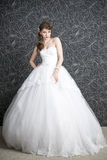 Beautiful woman in white wedding dress Royalty Free Stock Photography