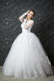 Beautiful woman in white wedding dress Royalty Free Stock Photos