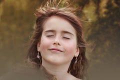 Beautiful woman with windwept hair