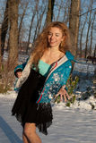 Beautiful woman in the winter Royalty Free Stock Image