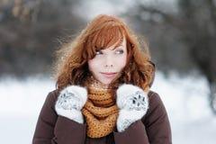Beautiful woman in winter Stock Photo