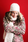 Beautiful woman in winter Royalty Free Stock Photos
