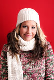 Beautiful woman in winter Stock Images