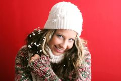 Beautiful woman in winter Stock Photo