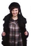 Beautiful woman in winter coat. royalty free stock photo