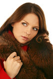 Beautiful woman. Winter fashion & makeup Stock Photography