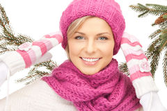 Beautiful woman in winter hat Royalty Free Stock Image