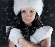 Beautiful woman in a winter hat Stock Photo