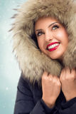 Beautiful woman in winter hat Royalty Free Stock Photography