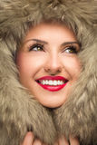Beautiful woman in winter hat Royalty Free Stock Photos