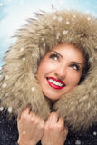 Beautiful woman in winter hat Royalty Free Stock Images