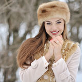 Beautiful woman in winter Royalty Free Stock Image