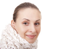 Beautiful woman in winter scarf Royalty Free Stock Photo