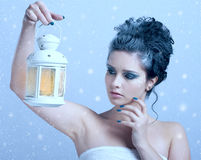 Beautiful woman with winter style Stock Photo