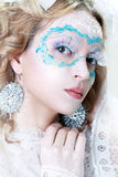 Beautiful woman with winter style makeup Stock Photo