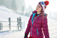 Free Beautiful Woman With A Snowboard. Sport Concept Royalty Free Stock Photos - 97222598