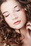 Beautiful Woman With Closed Eyes Stock Images